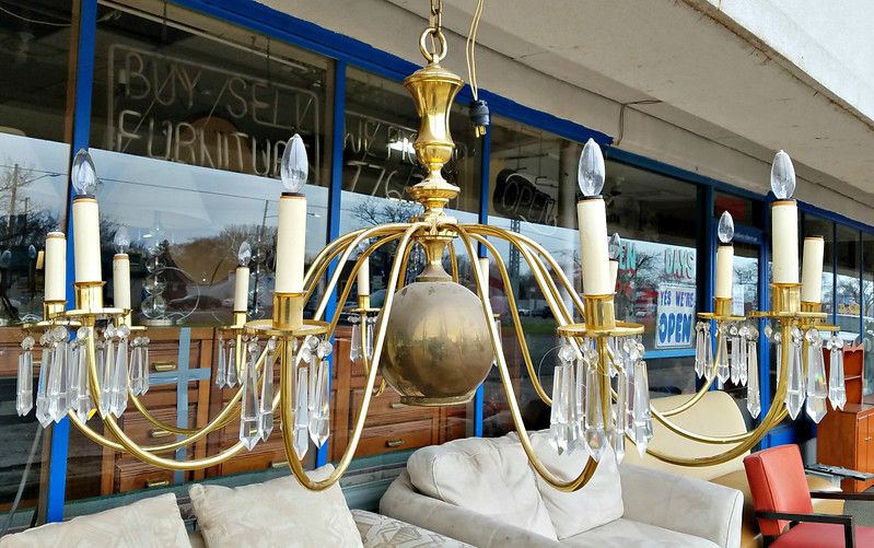 Giant Brass Chandelier