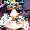 "Tall Brass Lamp. 36""  <b>$60</b>"