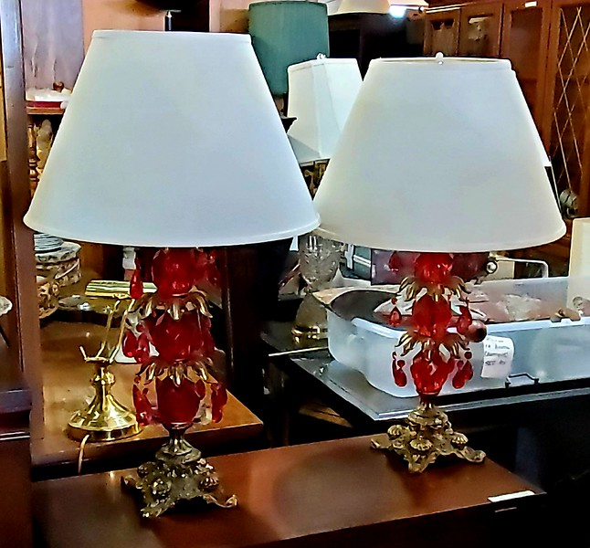 Red Crystal Table Lamps