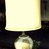 Subtle Green & Beige Table Lamp with Shade.  41-Inches. <b>$95</b>