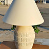 Cream White Table Lamp.  26 x 30.   <b>$45</b>