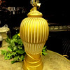 "Gold Table Lamp.  27"".  <b>$15</b>"