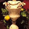 "Ornate Ivory Lamp with Porcelain Rosettes and Painted Gold Accents. 33""  <i><b>Over 150 NEW Additions to our website's Lamps & Lighting Gallery Section March 6th!!! </i></b>    Be sure to check them out.  From basic to ornate, we have floor and table lamps for everyone<b>$125</b>"