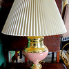 Colorful Brass Accent Table Lamp with Shade.  <b>$25</b>