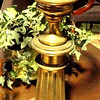 "Brass Table Lamp.  30"".  <b>$35</b>"