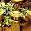 "Brass Table Lamp.  30"".  <b>$35</b>"
