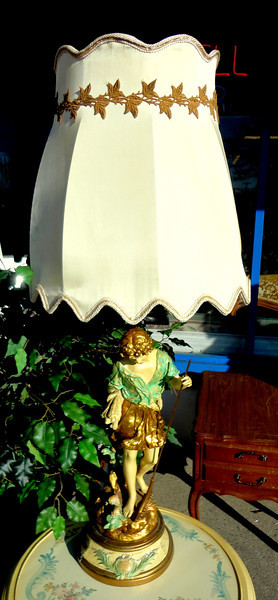 French Provincial Table Lamp.  21 x 47.  <b>$95</b>