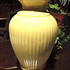 "Ceramic Beige Lamp. 27"" <b>$35</b>"