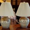 Set of 2 Elegant Floral Adorned Table Lamps.  21 x 27.  <b>$65 for the set.</b>