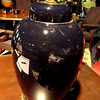 "Dark Royal Blue Ceramic Lamp. 28"" <b> $15 </b>"
