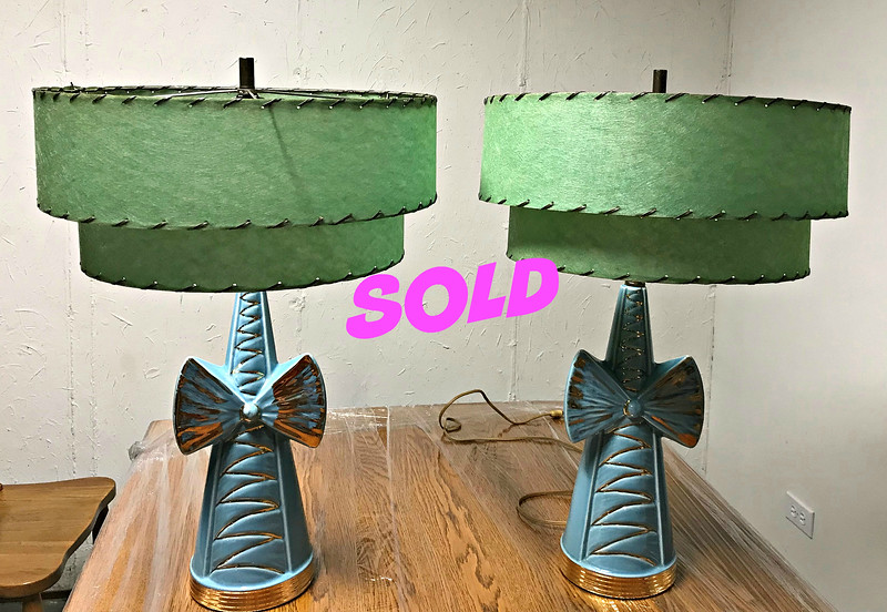 Vintage Atomic Table Lamps