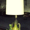 Tall Olive Green Table Lamp with Shade.  50-Inches.  <b>$35</b>