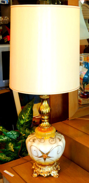 Uniquely Styled French Provincial Table Lamp.  15 x 39.  <b>$75</b>