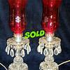 Vintage Electric Crystal Lamps