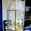 Hanging Glass Chandelier Light.  12 x 32.  <b>$60</b>