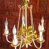 Floral Adorned Cast Iron Floral Chandelier.  20 x 21.  <b>$150</b>