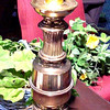 Tall Brass Lamp. <b>$30</b>