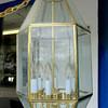 Hanging Glass Plate Chandelier.  14 x 14 x 26.  <b>$65</b>