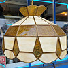 Stained Glass Hanging Lamp.  16 x 12.  <b>$85</b>