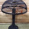 Antique Black Wicker Table Lamp