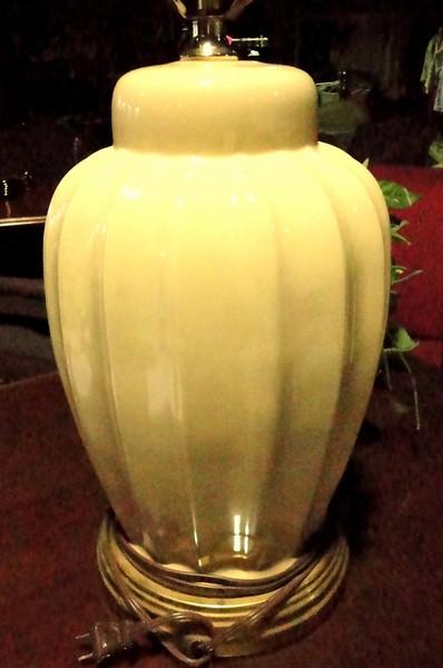 "Beige Lamp. 27"" <b>$25</b>"