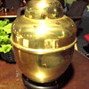 "Shiny Brass Lamp. 26"" <b>$30</b>"