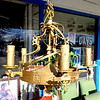 Ornate Antique Wedding Cake Chandelier.  20 x 22.  <b>$185</b>