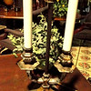 "Candelabra-Look Table Lamp with Antique Gold Base. 24"" <b>$60</b>"