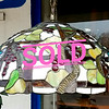 Large Stained Glass Hanging Light