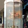 Ornate Frosted Glass Chandelier.  17 x 34.  <b>$150</b>