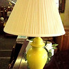 Bright Yellow Ceramic Table Lamp with Shade.  21 x 32.  Check out the Lamps & Lighting Section of our website for over a hundred recent additions.  <b>$25</b>