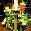 "Brass Candlestick Lamp. 27"" <b>$35</b>"