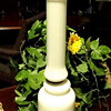 "Ivory Color Lamp.  34"" <b>$15</b>"