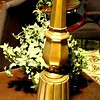 "Brass Lamp with Wide Base Candlestick Lamp. 36""  <b>$30</b>"