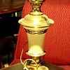 Beige and Gold Lamp. <b> $45</b>