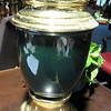 Dark Green with Brass Upper and Base.  <b>$30</b>