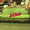 <b>Available at our Livernois Store Location - (313) 345-0884. </b>  Amazing 3-Section Ornate Tufted Green French Provincial Sofa in Excellent Condition.  <b>$1,295</b>