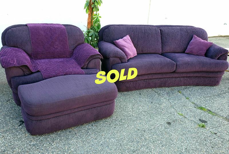 """Purple Rain"" Sofa Set"