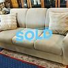 Beige Textured Living Room Sofa