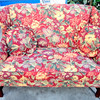 Premium Craftmaster Colorful Floral Sofa Settee in Very Good Condition. The Craftmaster Company has been making quality furniture since 1913 and this wonderful floral settee sofa is no exception.  The colorful floral print and comfortable upholstery will make this piece a delightful addition to your home.   59 x 36 x 41.  <b>$295</b>