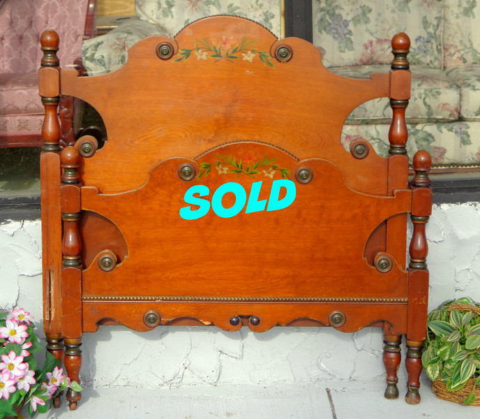 Attractive Solid Wood Twin Bed Frame.  Headboard for Bed Frame: 41 x 46.  <b>$125</b>