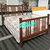 Solid Wood Queen / Full Bed Frame. 63 x 89 x 56.  <b>$175</b>