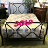 <b>Available at our Livernois Store Location - (313) 345-0884. </b>One-of-a-Kind Queen Size Wrought Iron Bed Frame in Excellent Condition.
