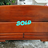 Art Deco Style Full Size Solid Wood Bedframe with Side Rails and Slats.  <b>$150</b>