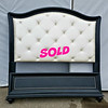 White Tufted Back Bedframe