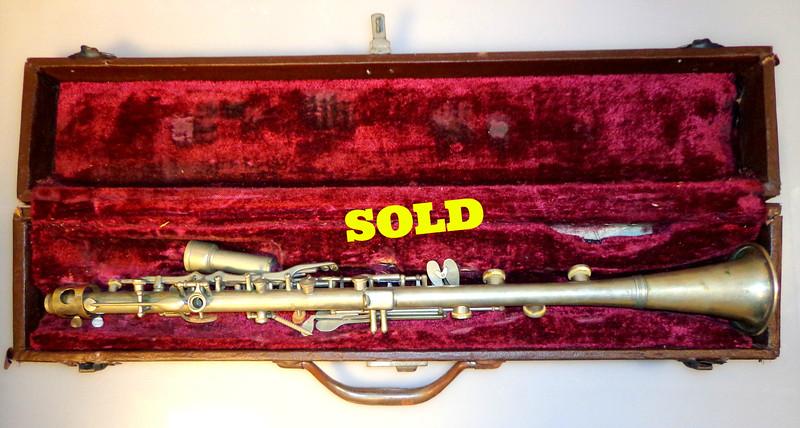 Vintage William Nuernberger American Artist Silver Metal Clarinet Germany.  <b>$70</b>