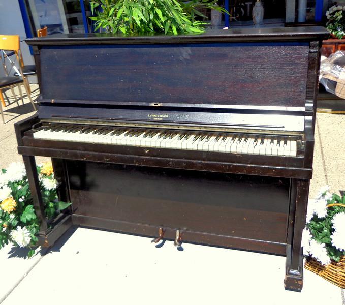Elegant Levine & Black of Detroit, MI Upright Piano.  54 x 21 x 44 1/2.  <b>$250</b>