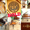 Vintage Queen Anne Schiller Cable Baby Grand Piano Serial Number 296408.  The Schiller Piano Company was established close to the turn of the century (1892), manufacturing pianos for over fifty years. The company came to be known as the Schiller-Cable Piano Company and was associated with several well known piano names, including Cable.  The Schiller Piano Company built very well made, expensive pianos from about 1892-1957 in Oregon, IL. The Schiller name was actually the top-of-the-line brand of piano produced by the famous Cable Piano Company of Chicago, and they were marketed as Cable's highest grade, most expensive piano line. Schiller controlled several of Cable's brand names such as Bachmann Piano Company, Chute & Butler, Kingsbury, Wellington, Conover, and others. Today, Schiller pianos are consistently some of the finest upright and grand pianos.  <b><i>Shown by Appointment Only - Please Call The Warren Store For Scheduling.</i></b>  <b>$1,795</b>