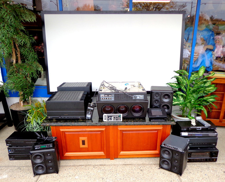 Spectacular Runco Professional Home Theater System with 54-Inch Screen & Granite Top Centerpiece. Featured components include: Runco Super DTV-852 CRT Projector.  Denon AVR 4800 Amplifier. 2 Sonance 1250 MKII amplifiers. 3 S100B Miller & Kreisel speakers. 2 Creston Professional Distribution Processors, Creston Video Controller.  Runco Remote Controller, cabling, solid wood granite top home theater centerpiece with integrated Extron VSC 150 &  MORE.....  This is a fantastic opportunity for anyone contemplating the very best in home theater projection and audio.  You can purchase this entire set here for far less than the price of just the Runco Projector alone anywhere else.  <b>$4,250</b>