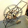 Extra Large Vintage Garden Hose Roller Cart.  36 x 14 x 36.  <b>$75</b>